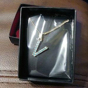 Avon Necklace Letter V